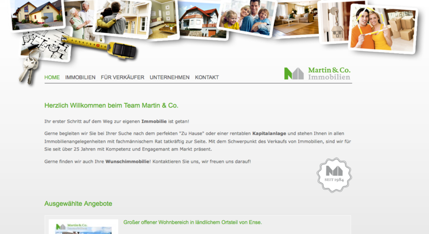 Teaser Immobilien Martin & Co.